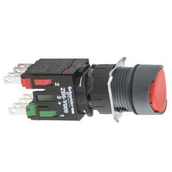 施耐德電氣 XB6AA45B 圓形紅色 NO/NC 16mm按鈕