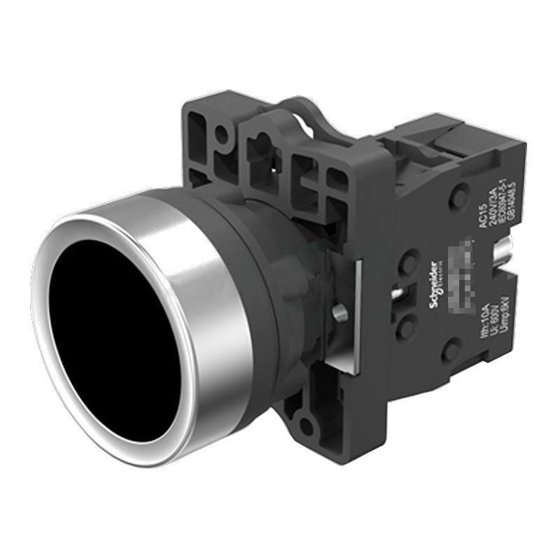 施耐德電氣 XA2EH021 平頭自鎖按鈕 黑色 1NO
