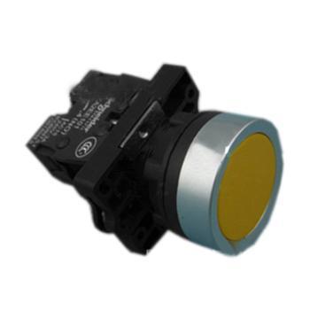 施耐德電氣 XA2EH051 平頭自鎖按鈕 黃色 1NO