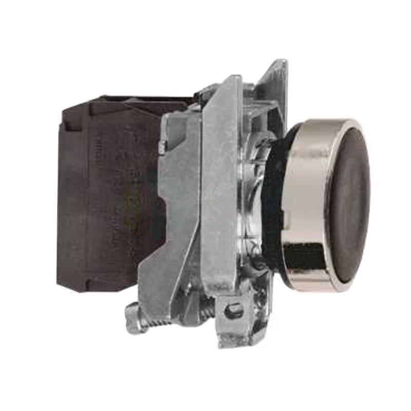 施耐德电气 XB4BA21 电气金属按钮 黑色 平头 1NO(ZB4BZ101+ZB4BA2)