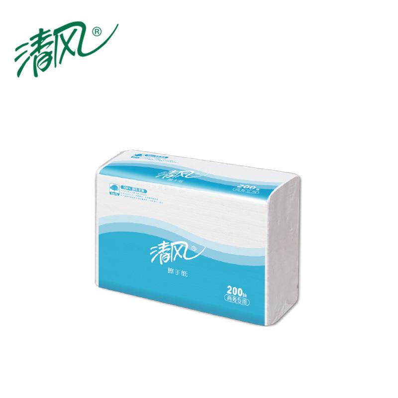 清風 B913AC 1層三折200張擦手紙 225mm*230mm 200張/包 20包/箱 白色