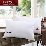 罗莱  老公老婆对枕 47*73 纯白色 WXZ01-3