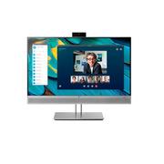 惠普 E243M 显示器 23.8英寸 金属银色  SKYPE视频会议显示器