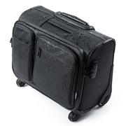 山業 200-BAGCR003WP 橫放型帶拉桿商務旅行包  黑色