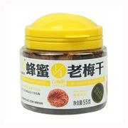 梅怡館  梅飴館蜂蜜1·1老梅干55g 6罐/組 淡黑色