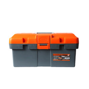 """钢盾 S024004 强力塑料工具箱 15""""(370x195x185mm) 橙色"""