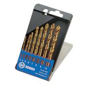 宝合 1400201 直柄镀钛高速钢麻花钻  金属色  8件
