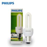 飞利浦 ESSENTIAL 8W 标准型普通照明用自镇流荧光灯 12pcs/箱 白炽色 E27 2U