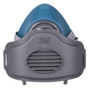3M HF-52 硅胶半面型防护面罩 中/大号 黑色 1个/袋 防有机蒸气异味及颗粒物