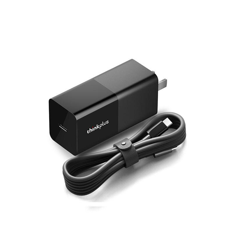 ThinkPlus  口红电源 Type-C 65W 黑色  附带便携快充充电器线