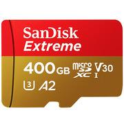 闪迪 SDSQXA1-400G-ZN6MA TF(MicroSD)存储卡 C10 V30 U3 4K 金红色 A2 V30 U3 4K 至尊极速移动版 读速160MB/s 写速90MB/s