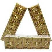 清风 B64C4CE 手帕纸 原木纯品金装系列 加厚4层 8张/包  白色 60包/箱