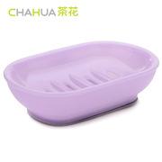 茶花 2235 椭圆滴水肥皂盒  随机色