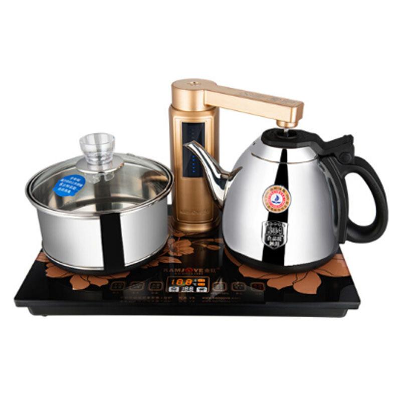 金灶 v8 全智能自动上水电热水壶 电茶炉全自动茶器 茶具套装 1L 黑色