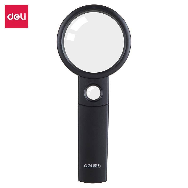 得力 9091 放大鏡 3倍放大 6倍輔鏡 直徑60cm長手柄手持