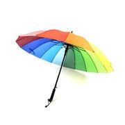 SCP CX010 超大16K直杆彩虹伞雨伞 16K 随机色