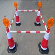 國產  安全警戒燈 75cm橡膠反光園錐桿子 4個/套