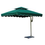 国产  户外太阳伞 3m涤纶防雨伞布,大理石底座 墨绿色