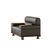 SA S327.1.WP 单人位沙发 1030*830*790*400   TP-PV10黑色/W-2A胡桃木