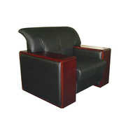 SA S302.1.WP 单人位沙发 1060*910*860*430   TP-PV10黑色/W-2A胡桃木