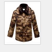 國產  荒漠迷彩軍大衣戶外冬季特種 (加厚型)