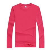 國產 YPS-004 長袖T恤-彩色 均碼 玫紅色  圖案可定制