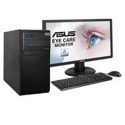 """华硕 D520MT 台式电脑 i7-7700 16G 128GSSD+1T 6G独显 黑色  DOS 21.5"""""""