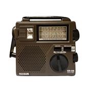 * 德生 GREEN-88 錄放音機 全波段 插耳機 手搖發電 咖啡色