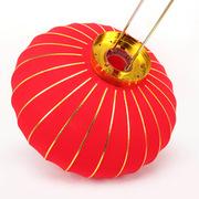 多美忆  金边新年挂饰大红灯笼 2个装 红色
