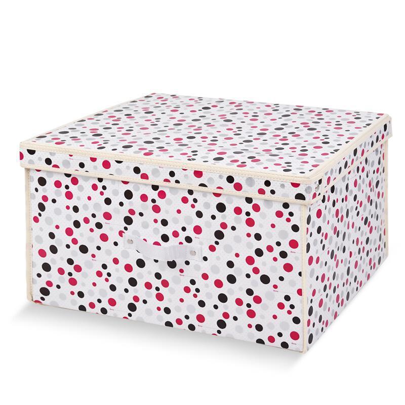 百草园  圆点大号收纳箱整理箱 衣服杂物收纳盒储物箱  1个装 60L