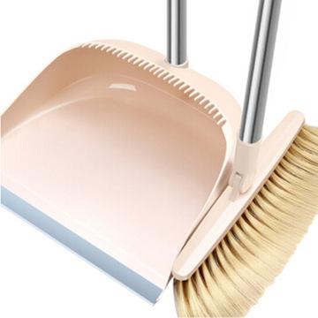 尔蓝(Airline) AL-S101 可旋转防风梳齿型扫把簸箕套装 不锈钢杆畚箕 扫帚 簸箕豪华型扫把搓斗组合两件套
