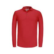 博瑞特 RK-FZ7895 高端丝光棉长袖POLO T恤 M 混色  220克丝光珠地 80%棉 20%丝