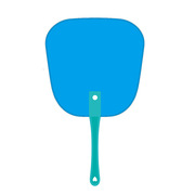 德维莱 DWL-074 PP塑料广告扇 17×18CM 蓝色