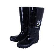 德維萊 DWL-110 PVC加絨款雨鞋 39-44碼 黑色