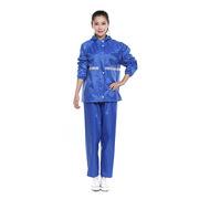 德維萊 DWL-107 滌絲紡反光雨衣(輕便款)xL/xxL  藍色
