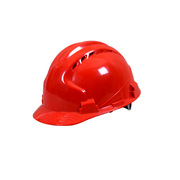 德维莱 DWL-113 三筋透气型ABS安全帽  红色