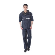 德維萊 DWL-305 滌絲紡反光雨衣(全里襯款)xL/xxL  黑色