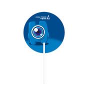 德维莱 DWL-273 异形宣传广告扇 20×18CM 蓝色