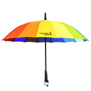 德维莱 DWL-234 直杆彩虹雨伞 长柄16骨晴雨伞 66CM×16K 彩色