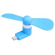 德维莱 DWL-741 便携式USB迷你手机小风扇 安卓 43×30×89.3mm 蓝色