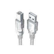 山泽 UK-403 数据线 3米 透明白色  适用于各类打印机、扫描仪等
