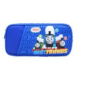 得力 66779 托馬斯系列大號防水鉛筆盒文具盒筆袋  深藍色
