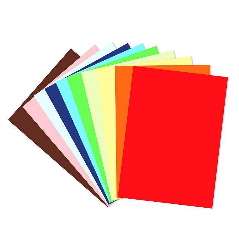 得力 73401 彩色手工卡紙 混色