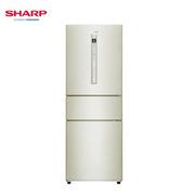 夏普 BCD-263WVPB-N 冰箱 282L 金色 紙箱 變頻風冷無霜,凈離子凈化