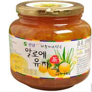 進口 韓國進口 全南 蜂蜜柚子茶1000g 蜂蜜柚子茶 1000g 黃色