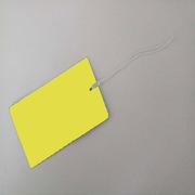 國產 300克銅版紙  長方形黃色 標簽紙  長方形黃色 105*55mm 300克銅版紙 118*70mm