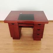 國產 林華紅胡桃色貼木皮 中班臺 經理桌 主管桌 職員辦公桌辦公桌 辦公桌 140*70*76CM 紅胡桃色