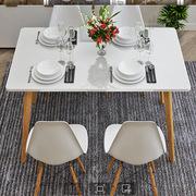 國產 白色長桌不含椅子A款140cm*80cm*75cm 餐桌