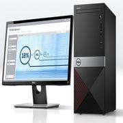 戴尔  台式电脑 23英寸   i5-8400 8GB 1TB 128GB SSD No ODD Win10 24寸显示器