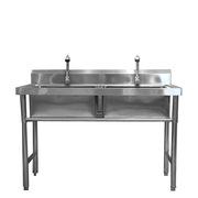 厨之选 XP-066 304#双槽洗碗洗菜池 1200mm*800mm*800mm